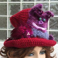 CUSTOM ORDER  SOLD Wonderland Cat Top Hat by TheTangerineViolet