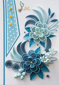 Neli is a talented quilling artist from Bulgaria. Her unique quilling cards bring joy to people around the world. Neli Quilling, Paper Quilling Cards, Paper Quilling Flowers, Paper Quilling Tutorial, Quilling Work, Paper Quilling Patterns, Origami And Quilling, Quilled Paper Art, Quilling Jewelry