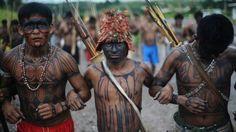 Índios guerreiros Munduruku(Pará)