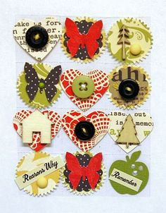 Art Bits Self Adhesive PaperCrafting Embellishments by ArtFreckles, $5.50