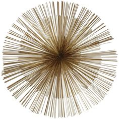 signed midcentury curtis jere brass starburst wall sculpture