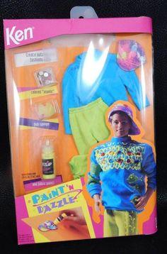 1993 Mattel Ken Cool Creations Paint 'N Dazzle Barbie Fashion Kit #10073 NRFB #Mattel
