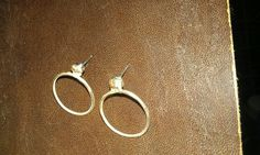 Sterling silver post earrings made by Julie Reitenbach of AnJules