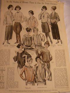 1920s Women's Blouses Lingerie Aprons by AuntLizziesTreasures, $7.00