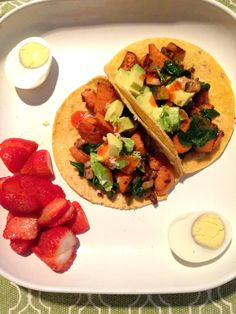 Sweet Potato Street Tacos - just made this for dinner and it was delicious!!! Recipe from Fit Girls Guide 28 Day Jumpstart Challenge. Message me if you would like the recipe. More than happy to share!
