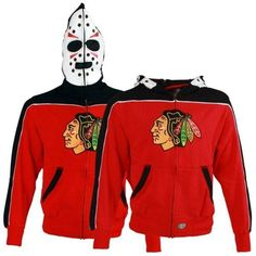 7e918dddf Youth Chicago Blackhawks Old Time Hockey Red Eddie Mask Full Zip Hoodie