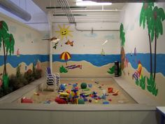 An indoor sandbox room?! How freaking amazing would this be!