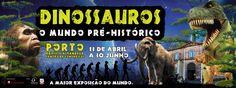 Dinossauros e Pré-História na Alfândega do Porto até Junho