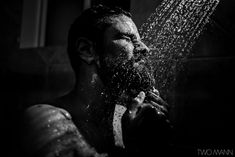 an indian groom taking a relaxing shower