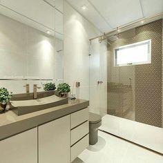 Banheiro com tons lindos!!  Por @carolcantelli_interiores