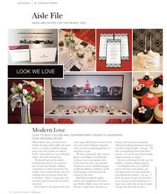 So great to be featured as part of M Photography - mphotography 's Hotel Red modern inspired wedding shoot!