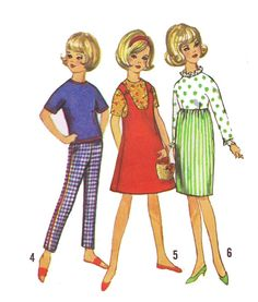 Vtg Doll Clothing PATTERN 6244 for Tammy Misty Jan by BlondiesSpot