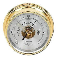 Predictor Barometer by Maximum Weather Instruments Oregon Weather, Weather Instruments, Rain Gauge, Tv Videos, Brass, Silver, Amazon, Link, Image