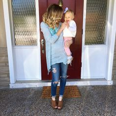 Sunday funday with my little family!  This top is perfect for spring and under $50 and my wedges are so comfy and come in a few colors details @liketoknow.it www.liketk.it/29yB1 #liketkit #sundayfunday #ootd #wiw #mygirl #ithinkineedanewdoormat