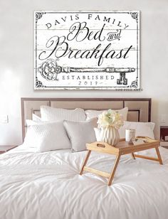 Bed and Breakfast Sign Rustic Farmhouse Wall Decor Name Established Sign Personalized Guest Bedroom Wall Art Vintage Guest Room Gift for Her – The Best Ideas Guest Bedroom Decor, Farmhouse Bedroom Decor, Guest Bedrooms, Bedroom Wall, Rustic Farmhouse, Bedroom Ideas, Bedroom Designs, Farmhouse Style, Victorian Farmhouse