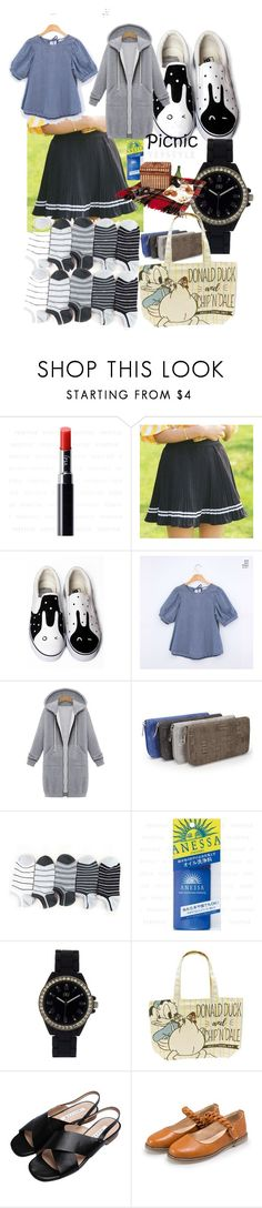 """""""yesstyle's picnic"""" by lerp ❤ liked on Polyvore featuring HVBAO, chuu, Sugar Town, Shiseido, N:U - Not the Usual and Goroke"""