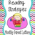 Monthly Reading Strategy Letters.... Choose one per month to teach your parents how to effectively help their children while reading at home...A great way to get parents involved! $