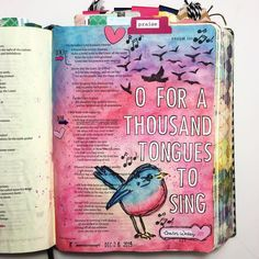I'm so excited to be up on @graceandsaltink's blog today talking about all the in's and out's of my Bible journaling process! You can find it at the link in my profile, and I highly recommend you check out all the other Bible journaled interviews in the series! #biblejournaling #graceandsaltink