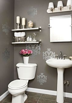 Downstairs Bathroom Decorating Ideas la house tour roundup: art in the bathroom | shower doors, ceiling