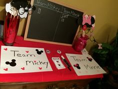 Disney gender reveal party voting station