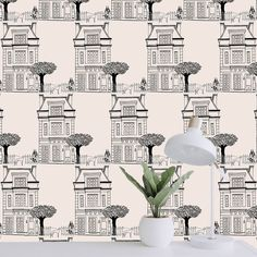 A whole flat in Ulala Vienna Design. Wallpaper, paint, renovation, decoration done by Ulala Vienna Vienna, Townhouse, Floor Plans, Flats, Canning, Wallpaper, Showroom, Paint, Decoration