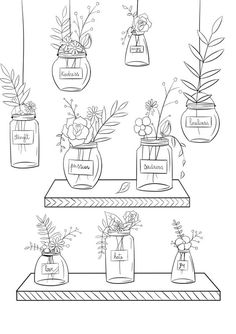 Free coloring pages! Free Printable Coloring Sheets, Free Adult Coloring Pages, Cool Coloring Pages, Flower Coloring Pages, Kawaii Drawings, Doodle Drawings, Easy Drawings, Doodle Art Journals, Coloring Book Art