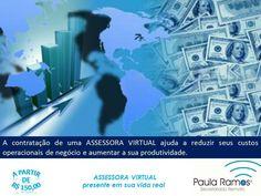 Assessora Virtual é uma alternativa de serviço para sua empresa. Solicite orçamento, consulte os pacotes de serviços. Curta e compartilhe, obrigada! ACESSEhttp://www.paulasecretariadoremoto.com/