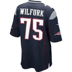 Official New England Patriots ProShop - Nike Vince Wilfork #75 Game Jersey-Navy