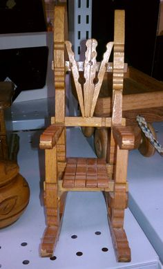 Clothes pin rocking chair2