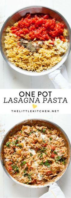 One Pot Lasagna Pasta from thelittlekitchen.net @TheLittleKitchn