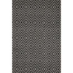 Dash and Albert Rugs Hand-Woven Black Indoor/Outdoor Area Rug Rug Size: Runner x