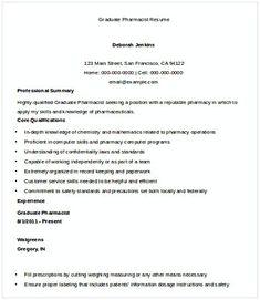 Graduate Pharmacist Resume Pharmacy Manager Resume If You Are Applying For Pharmacy Manager Read This Pharmacy Manager Resu Manager Resume Resume Pharmacy