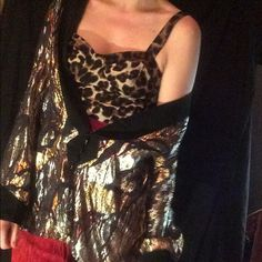Vintage Gold and silver lamé sports jacket Slinky and shiny and sheer, oh my! Jackets & Coats Blazers