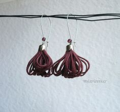Eco friendly earrings.Summer earrings.Fashion by missismiss, $18.00