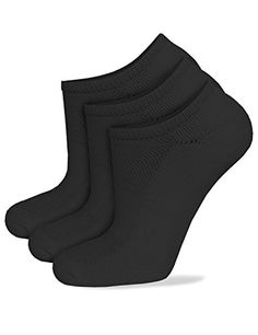 Cotton Classic Athletic Low Solid Socks No  Slip Cut Black 3pairs 1013 ** Click image to review more details.Note:It is affiliate link to Amazon.