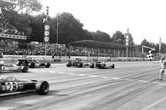 The 1971 Italian Grand Prix and Peter Gethin raises his fist in triumph for one of the closest victories in the history of Formula 1.