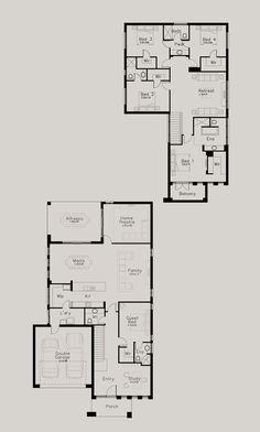 Bordeaux - Dechellis Homes Bordeaux, 3 Storey House, Garage Entry, Home Board, Double Garage, House Blueprints, House Layouts, Home Reno, Plan Design