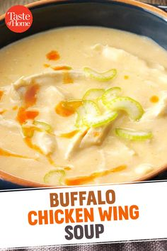 Chicken Wing Soup Recipe, Chicken Salad Recipes, Cream Of Celery Soup, Cream Of Chicken Soup, Easy Salad Recipes, Soup Recipes, Baking Recipes, Buffalo Chicken Soup, Bon Appetit