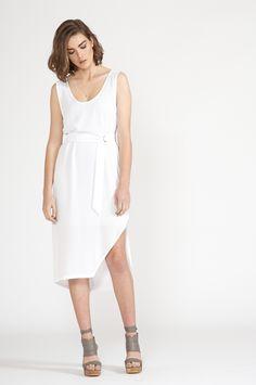 grab dress - Polyester white : dresses : shop online • m o o c h i