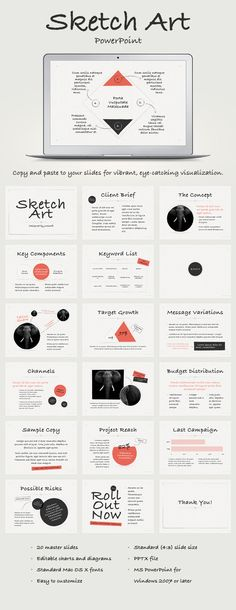 Sketch Art PowerPoint Template - Abstract PowerPoint Templates