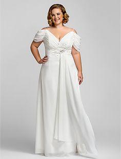 Vestido de Formatura/Noite de Chiffon Tamanhos Grandes - BRL R$ 239,37