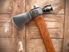 Barrel Pipe Tomahawk :: paps Custom Hawks Tomahawk Axe, Beil, Bushcraft, Blacksmithing, Swords, Arrows, Knives, Barrel, Diy Crafts