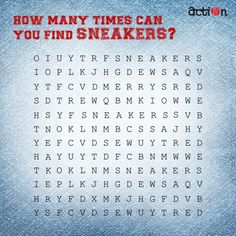 We have lost our SNEAKERS in this crossword puzzle. Can you help us find it in the puzzle? #ThursdayTrivia