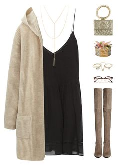 """""""Untitled #566"""" by stargazin-g ❤ liked on Polyvore featuring Zara, Chanel, Stuart Weitzman, Lipsy, Ray-Ban, Uniqlo, South Moon Under, Winter and brown"""