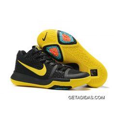 New Nike Kyrie 3 Black Yellow Basketball Shoes Online 79edd7627