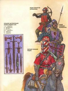 1 Foot crossbowman X-XIIw 2 Foot spearman X-XIIw  3 Famed Polish knight X-XIIw
