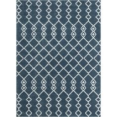 Well Woven Cedar Tiller Moroccan Lattice Trellis Blue 7 ft. 10 in. x 9 ft. 10 in. Area Rug CD-34-7 - The Home Depot Navy Blue Area Rug, White Area Rug, Beige Area Rugs, Home Depot Rugs, Area Rug Sizes, Modern Classic, Trellis, Colorful Rugs, Yarns