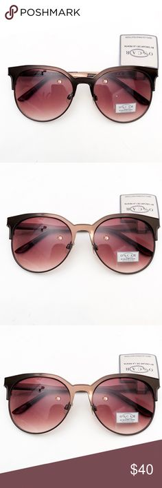 Oscar De La Renta Slight Cat Eye Sunglasses NWT New with tags Also comes in black See seperate listing Oscar de la Renta Accessories Sunglasses
