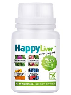 Detoxifierea ficatului HappyLiver - Ajuta la imbunatatirea functiilor hepatice, metabolizarea si eliminarea din organism a fumului de tigara, alcoolului, acumularilor toxice de medicament