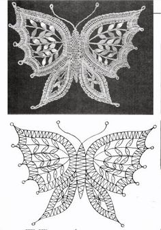 crochet butterfly pattern many different charts for making many diff. types of butterflies. butterfly patterncrochet … BXUDAPV - Her Crochet Bobbin Lace Patterns, Crochet Patterns, Doily Patterns, Dress Patterns, Lace Knitting, Crochet Lace, Russian Crochet, Doilies Crochet, Lace Embroidery